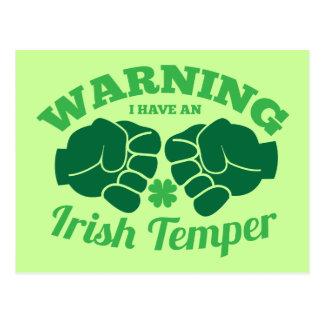 WARNEND habe ich ein irisches Temperament! von den Postkarte