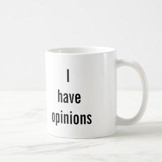 """""""WARNEND: Ich habe Meinungs"""" Tasse"""