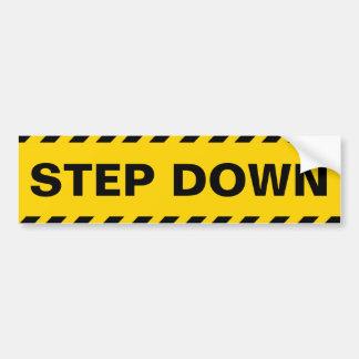 Warnend Step-down Autoaufkleber