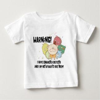 Warnende Charakter-Defekte Baby T-shirt