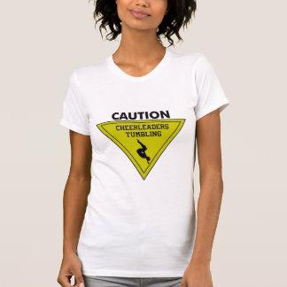 Warnende Cheerleader T-Shirt