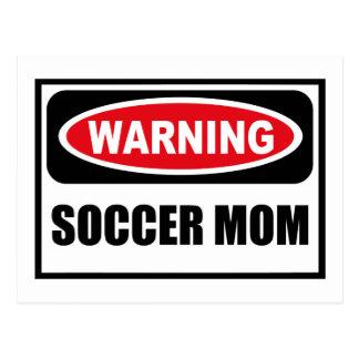 Warnende FUSSBALL-MAMMA Postkarte