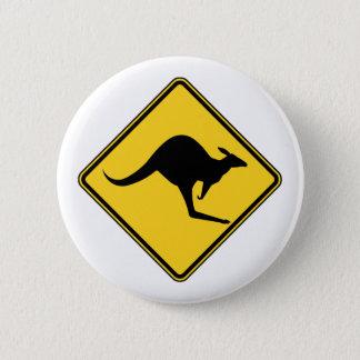 warnende Gefahr des Kängurus an Australien-Tag Runder Button 5,1 Cm