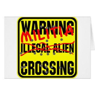 Warnende Miliz-Überfahrt Karte