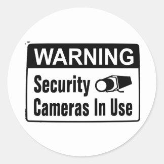 Warnende Überwachungskamera-gebräuchliche Runder Aufkleber