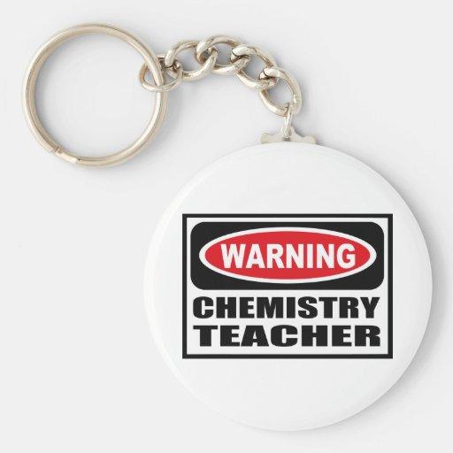 Warnender CHEMIE-LEHRER Schlüsselkette Schlüsselbänder