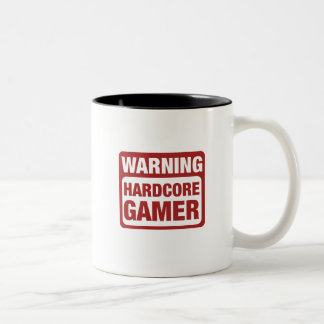Warnender hardcoreGamer Zweifarbige Tasse