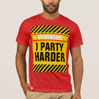 Warnender i-Party-härterer T - Shirt