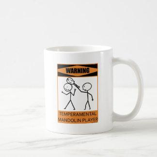 Warnender Temperamental Mandolinen-Spieler Kaffeetasse