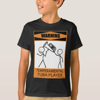 Warnender Temperamental Tuba-Spieler T-Shirt