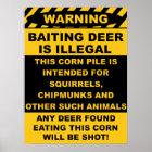 Warnendes anlockenrotwild ist illegal poster
