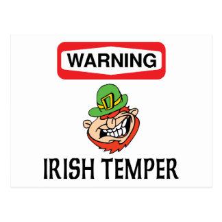 Warnendes Iren-Temperament-Geschenk Postkarte