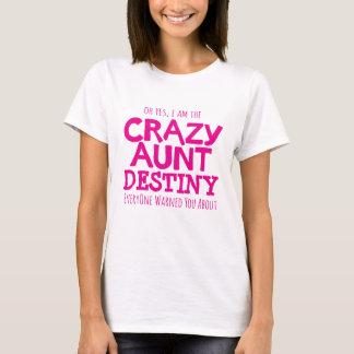 Warnendes Rosa verrückter Tante personifizieren T-Shirt