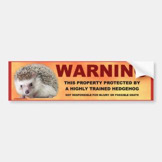 WARNING AUTOAUFKLEBER