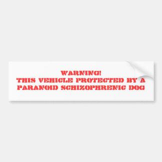 WARNING! DIESES FAHRZEUG GESCHÜTZT DURCH EIN AUTOAUFKLEBER