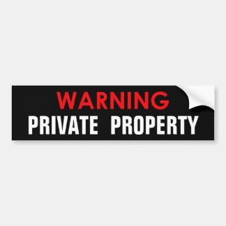 WARNING PRIVATEIGENTUM-GLATTER AUFKLEBER AUTOAUFKLEBER