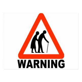 Warnung - ältere Überfahrt Postkarte