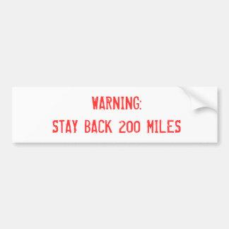 Warnung Autoaufkleber