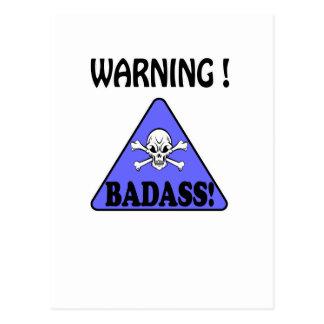Warnung! Badass Postkarte
