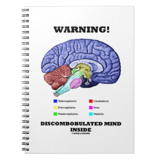 Warnung! Discombobulated Sinnesinnere Spiral Notizblock