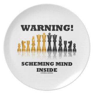Warnung! Entwerfendes Sinnesinnere (Schach-Set) Teller