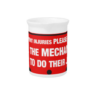 Warnung - Mechaniker-Geschäfts-Sicherheits-Spitzen Krug
