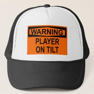 Warnung: Spieler auf Neigung Truckerkappe