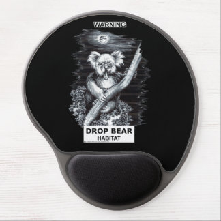 Warnung: Tropfen-Bärn-Lebensraum Gel Mousepad
