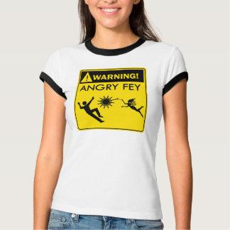 Warnung! Verärgertes schrulliges Hemden