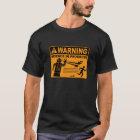 Warnung! Wissenschaft laufendes © - Roboter-T - T-Shirt
