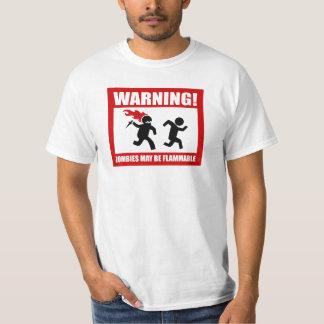 Warnung! Zombies können brennbarer T - Shirt sein