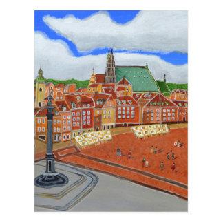 Warschau-Alte Stadt Postkarte