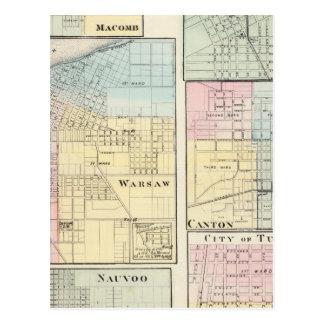 Warschau, Macomb, Marshall, Bezirk Postkarte