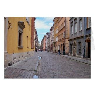 Warschau, Polen Karte