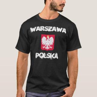 Warschau, Polska, Warschau, Polen mit Wappen T-Shirt