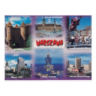 Warschau - Postkarte