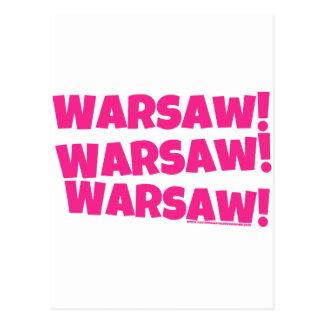 Warschau! Postkarte
