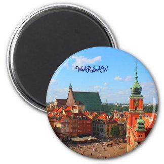 Warschau Runder Magnet 5,1 Cm
