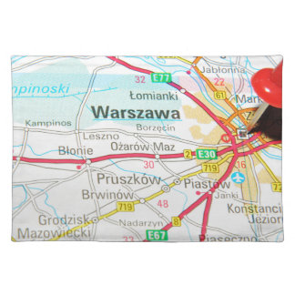 Warschau, Warschau in Polen Tischset