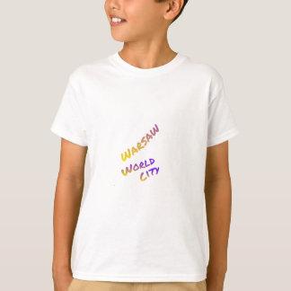 Warschau-Weltstadtbuchstabekunst-FarbeEuropa T-Shirt