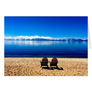 Wartete Sommer auf Lake Tahoe Karte