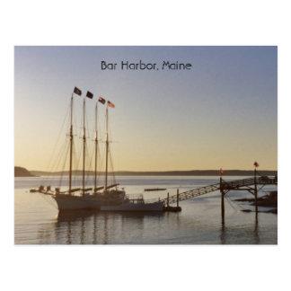 Wartete, um zu segeln postkarte