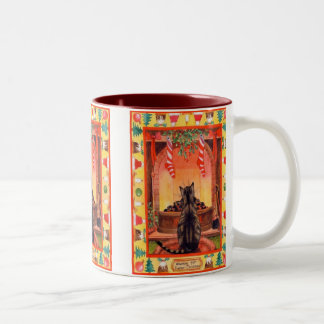 Wartete Vater-Weihnachten Zweifarbige Tasse