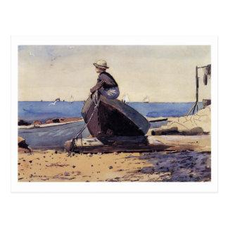 Wartete Vati durch Winslow Homer Postkarte