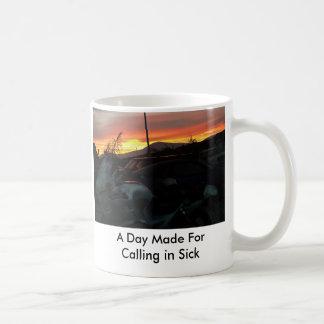 warum, ein Tag gemacht für das Nennen im Kranken Kaffeetasse