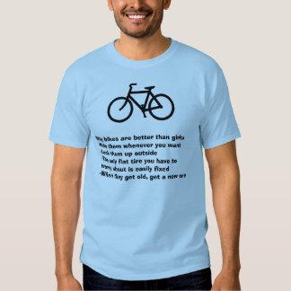 Warum Fahrräder besser als Mädchen sind Hemd