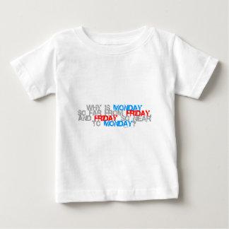 Warum Freitag ist, der bis Montag - lustige Baby T-shirt