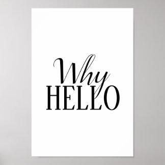"""""""warum hallo"""" Plakat"""
