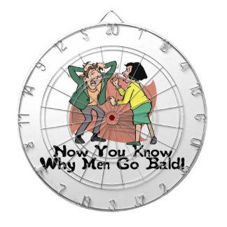 Warum Männer kahl gehen Dartscheibe