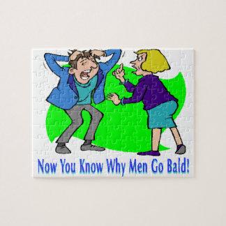 Warum Männer kahl gehen Puzzle